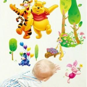 """XXL velika stenska nalepka """"Medvedek Pu in Tiger"""""""