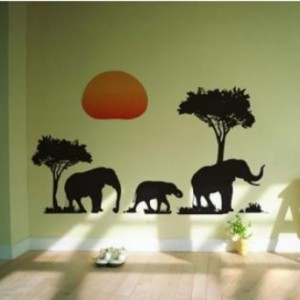 Stenska nalepka - Sloni