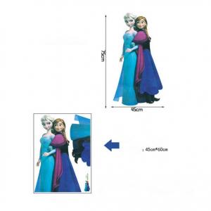 Velika stenska nalepka Ledeno kraljestvo Elsa in Ana