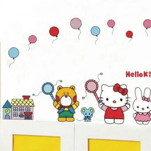 Stenska nalepka Hello Kitty in prijatelji