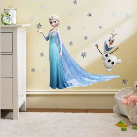 Velika stenska nalepka Ledeno kraljestvo Elsa in Olaf
