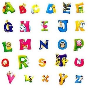 stenska nalepka abeceda