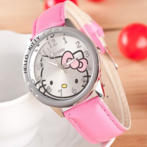 Dekliška ročna ura Hello Kitty roza