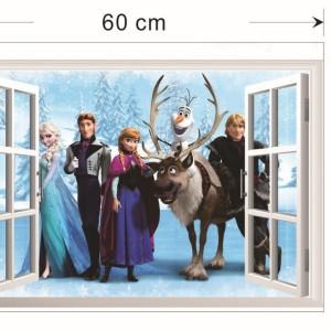Velika stenska nalepka Frozen Elsa Ana Hans Sven Kristof Olaf
