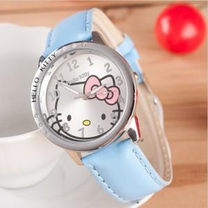 Dekliška ročna ura Hello Kitty svetlo modra