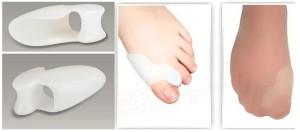 Opornica za ukrivljene prste na nogah hallux valgus